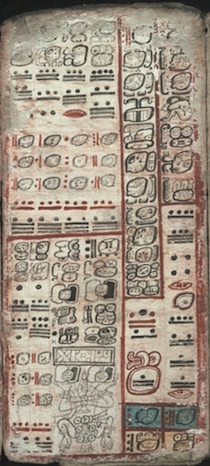 A page from the Mayan Dresden Codex